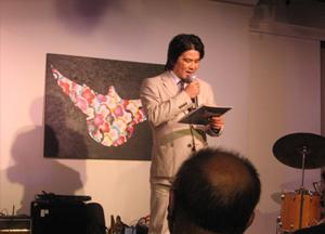 NYにてPeace and World Harmony レセプションにてスピーチ